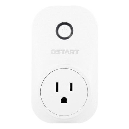 WiFi Smart Plug, No Hub Required, Remote Control Electrical Outlet Switch for Household Appliances White