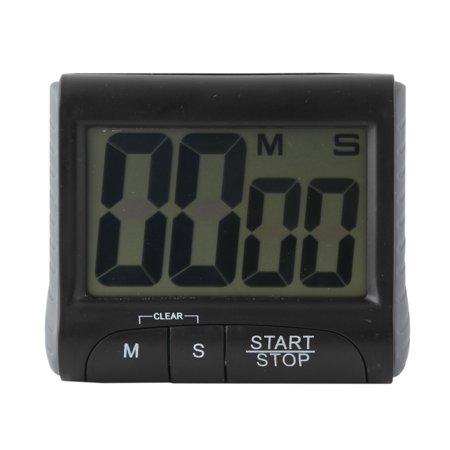 Digital Large LCD display Timer, Electronic Countdown Alarm Kitchen Timer, Black