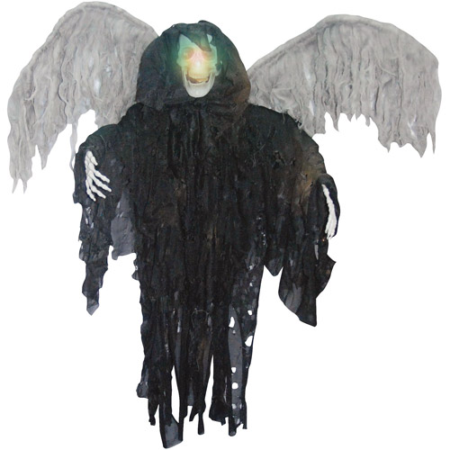 4' Tall Lighted Winged Grim Reaper