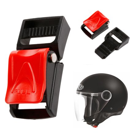 Motorcycle Helmet Speed Clip Chin Strap Quick Release Buckle Plastic QR Red 3/4