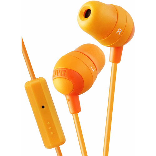 JVC Marshmallow In-Ear Headphones with Mic, Orange