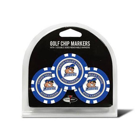 3-Pack NEW Team Golf Grand Valley State Poker Chip w/ Magnetic Ball Marker (Golfs Grand Design)