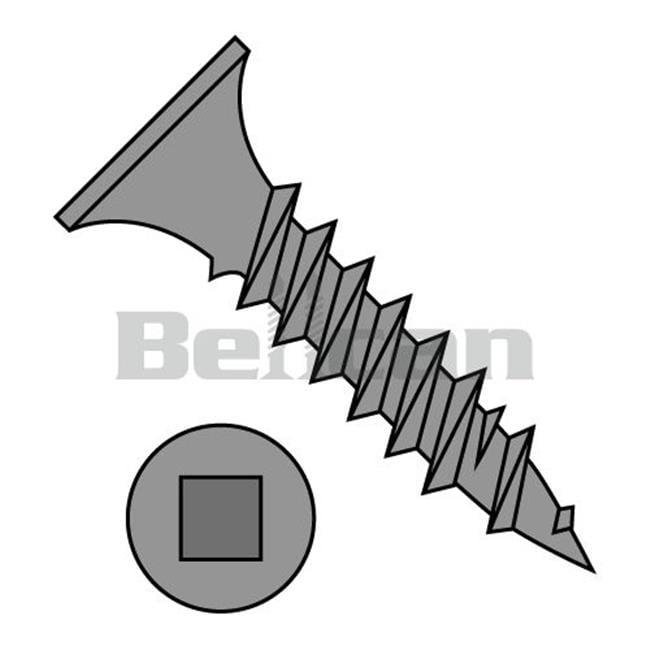 Shorpioen 0620YQG No.6 x 1.25 Square Drive Bugle Head Fine Thread Drywall Screw, Black Phosphate - Box of 8000 - image 1 de 1