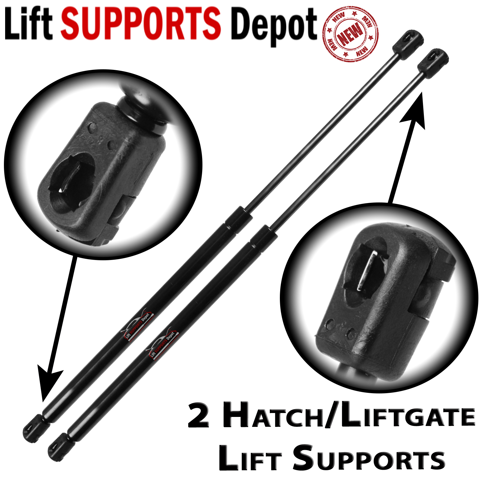 Qty (2) Fits Kia Sorento 2003 To 2009 Rear Liftgate Hatch Lift Supports Struts - PM3028