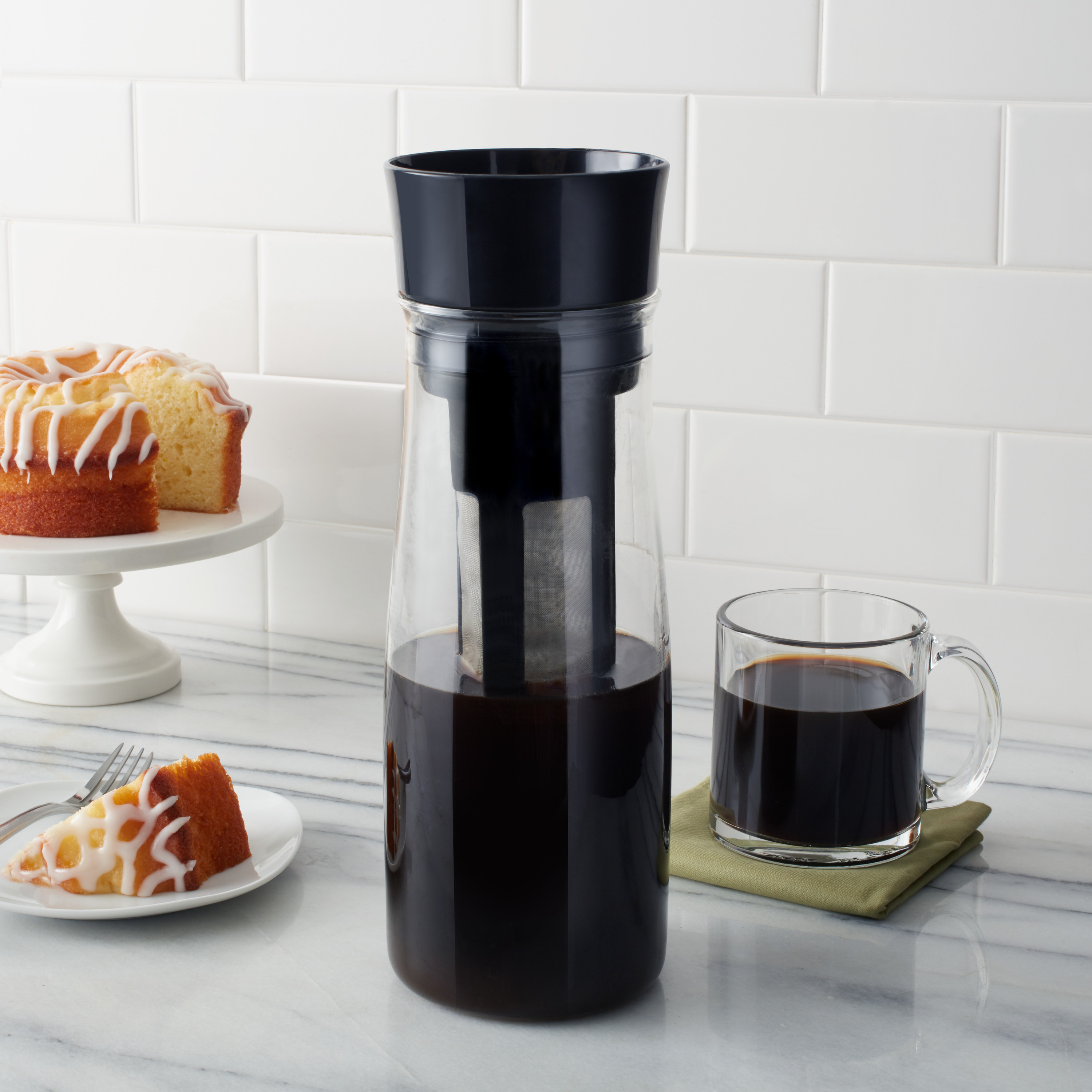Copco Forty Ounce Borosilicate Glass Cold Brew Coffee Maker Black
