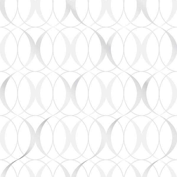 NuWallpaper Circulate Light Silver Peel & Stick Wallpaper