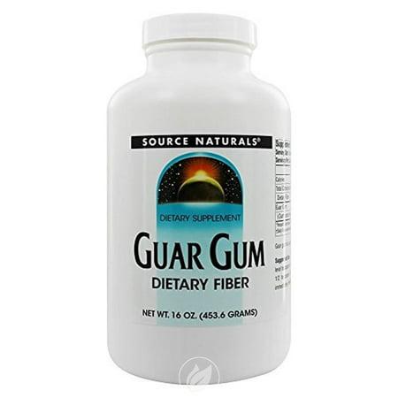 Source Naturals Guar Gum Powder Dietary Fiber 16 oz, Pack of 2