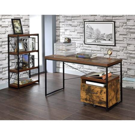 Oak Rustic Desk - ACME Bob Desk, Weathered Oak
