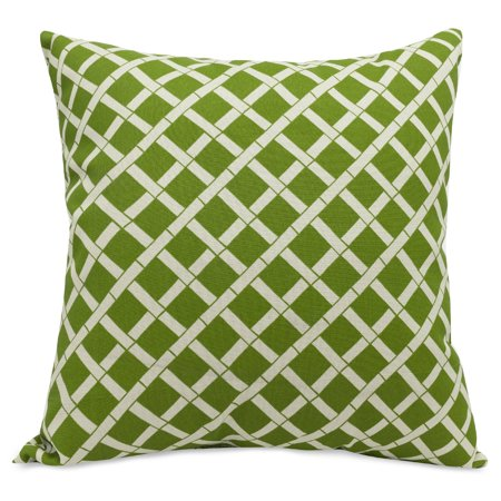 Majestic Home Goods Indoor Outdoor Sage Bamboo Extra Large Decorative Throw Pillow 24 in L x 10 in W x 24 in H Bamboo Decorative Pillow