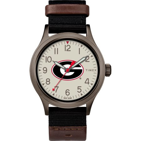 Timex - NCAA Tribute Collection Clutch Men's Watch, University of Georgia Bulldogs (Georgia Bulldogs Mens Watch)