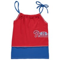 Philadelphia Phillies Refried Apparel Girls Preschool T-Shirt Tank Top Dress - Red
