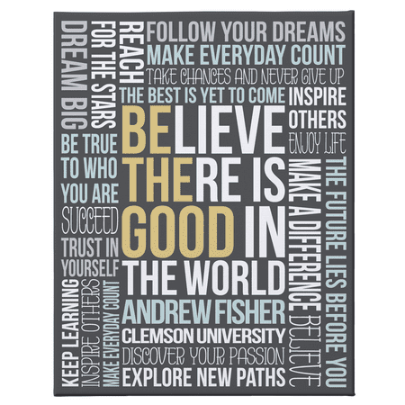 Personalized Be The Good Graduation Canvas - 11x14 - Gray