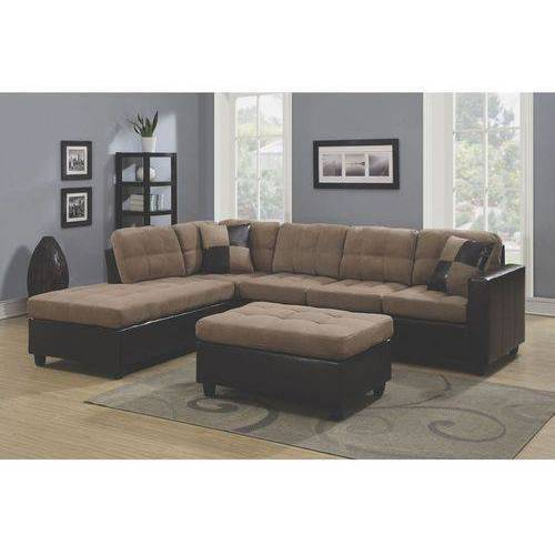 Coaster Company Chocolate Microfiber Sectional  sc 1 st  Walmart : ashley cowan sectional - Sectionals, Sofas & Couches