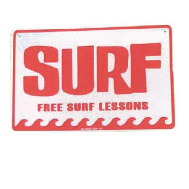 Seaweed Surf Co SF2 12X18 Aluminum Sign Free Surf Lessons