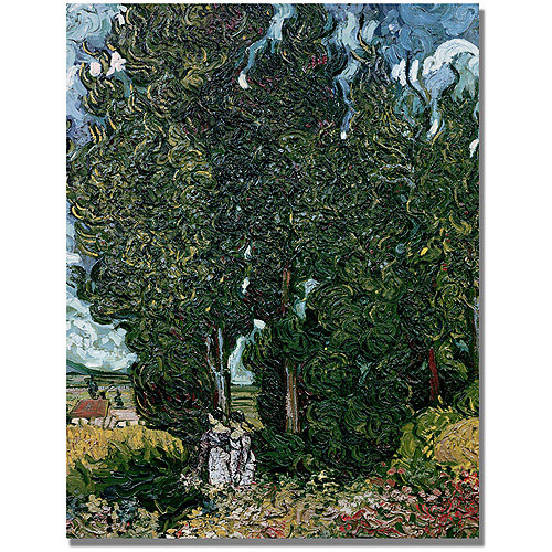 "Trademark Fine Art ""The Cypresses"" Canvas Art by Vincent van Gogh"