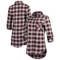 Mississippi State Bulldogs Concepts Sport Women's Forge Flannel Long Sleeve Button-Up Shirt - Maroon/Black
