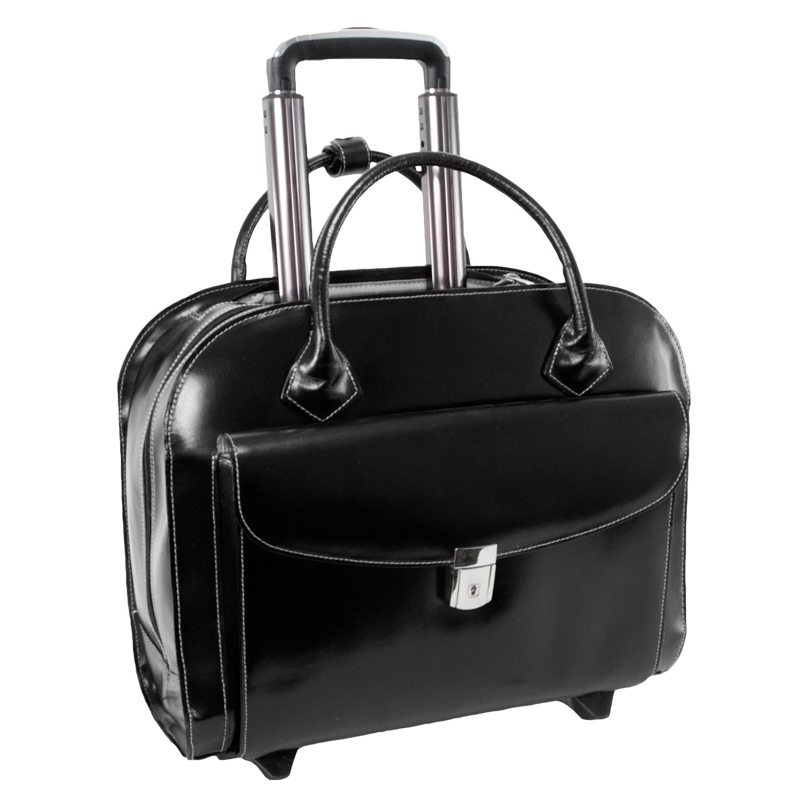 McKlein USA Granville Wheeled Ladies Laptop Case - Black