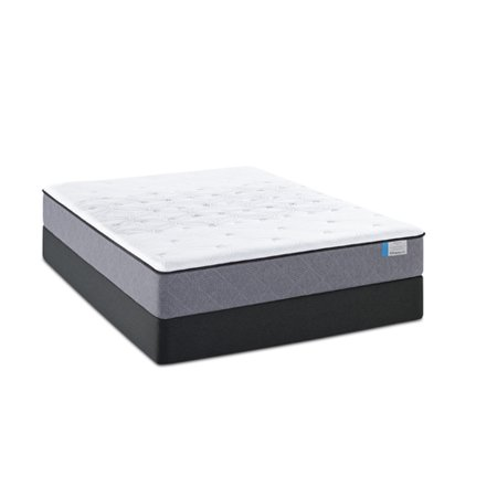 sealy posturpedic drakesboro plush cal king mattress and low profile box spring set. Black Bedroom Furniture Sets. Home Design Ideas