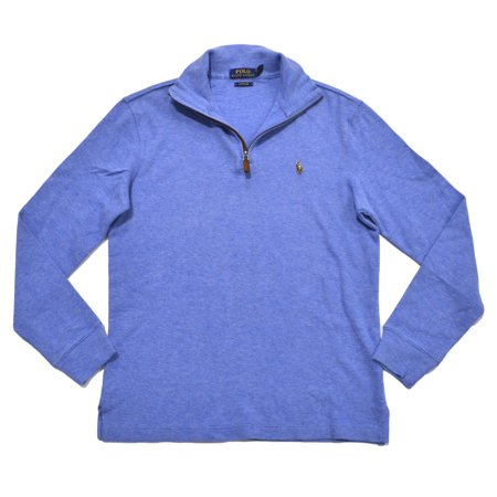 Polo Ralph Lauren NEW Blue Welsh Mens XS 1 2 Zip Estate Rib Sweater ... 69979708e353