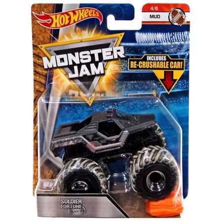 Hot Wheels Monster Jam  Soldier Fortune Black Ops Die-Cast Car - Halloween Monster Mud Run