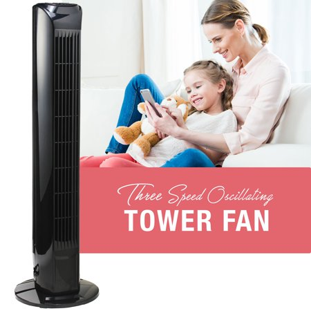 Oscillating 31 Inch 3 Speed Tower Fan with Remote and Electronic Countdown Timer