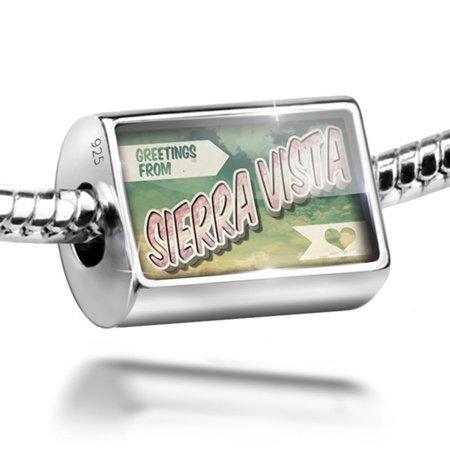 Bead Greetings From Sierra Vista  Vintage Postcard Charm Fits All European Bracelets