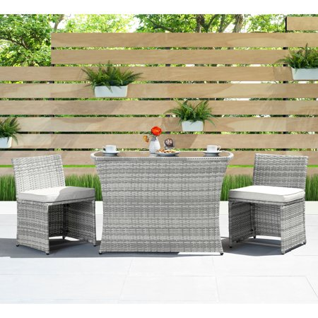 Image of Exum 3pc Café Set in Grey by Sego Lily