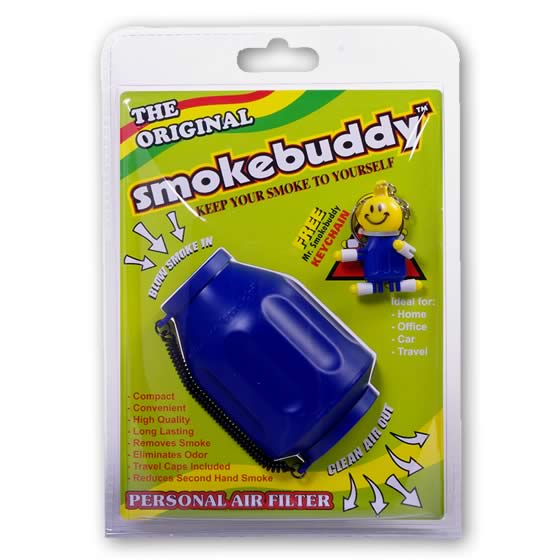 Smoke Buddy Original Personal Air Purifier Cleaner Filter Removes Odor - Blue