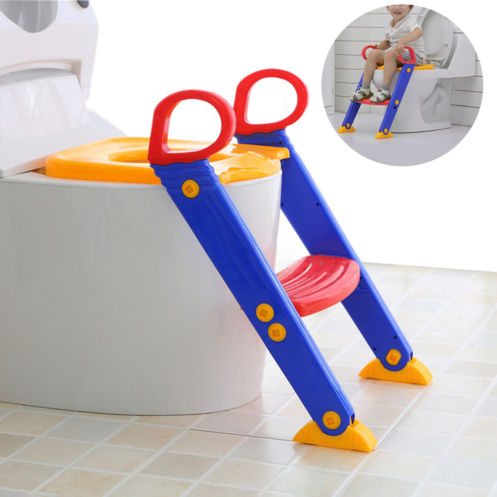 3 In 1 Baby Infant Potty Training Toilet Safety Chair Non-Slipping Seat Step Adjustable Ladder Trainer Toddler