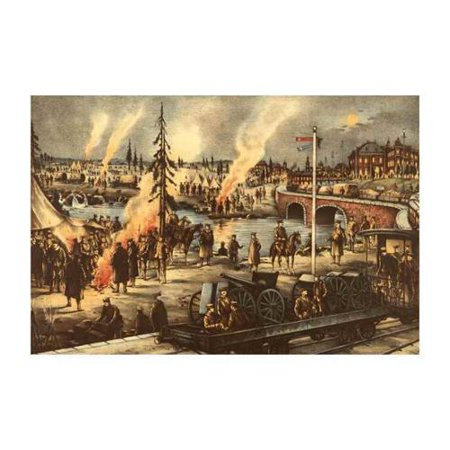 Camping of The Expeditionary Army in Siberia Print (Canvas 12x18)
