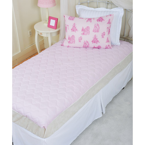 Disney Princess Twin Size Quilted Mattress Pad, Pink