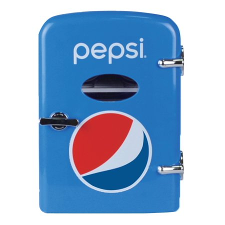 Pepsi Portable 6-can Mini Fridge, MIS133PEP, BLUE