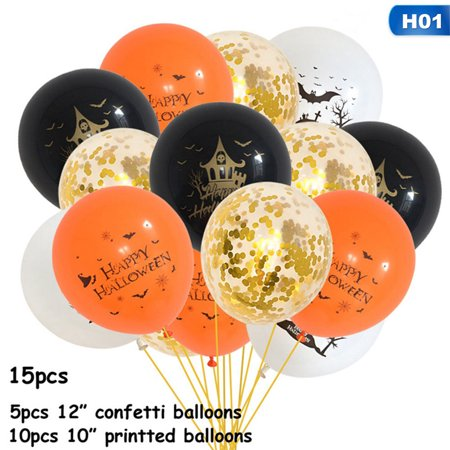 Halloween Party Dracula's Castle (AkoaDa 10\/15Pcs Happy Halloween Latex Balloons Bat Skull Castle Balloons Halloween Ghost Festival Party)