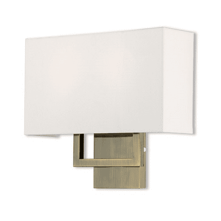 World of Crystal Melbourne Wall Sconces 13in Antique Brass Steel (Crystal Antique Sconce)