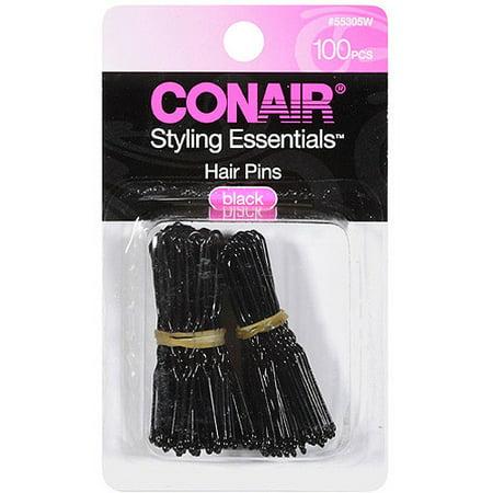 (2 Pack) Conair Hair Pins Black - 100 CT