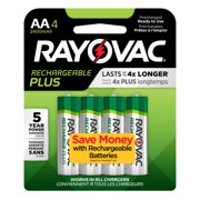 Rayovac Recharge Plus NiMh, AA Batteries, 4 Count