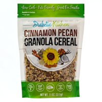 (2 Pack) Diabetic Kitchen Cinnamon Pecan Granola Cereal, Keto, Low Carb, No Sugar Added, Gluten-Free