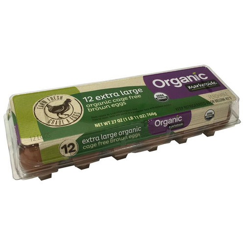 Marketside Extra Large Organic Cage Free Brown Eggs, 12 ct