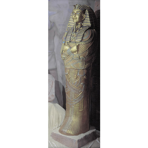 """73"""" x 22"""" x 12"""" Pharaohs Coffin Front Only Halloween Prop"""