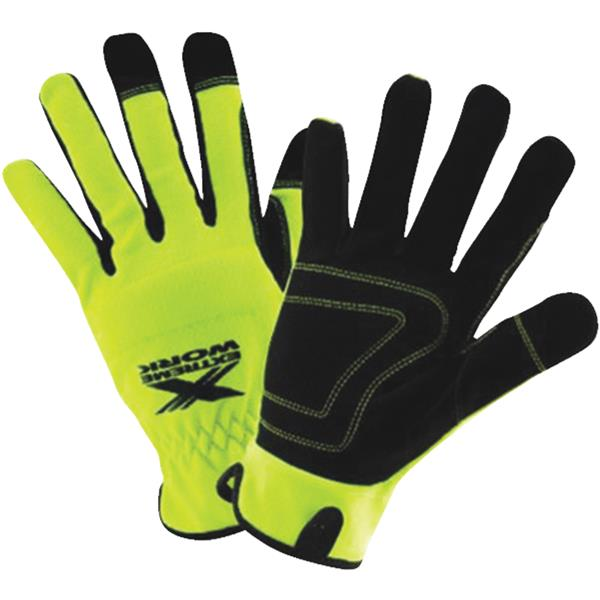 Wells Lamont 7674L Wells Lamont Mens High-Performance High Visibility Gloves