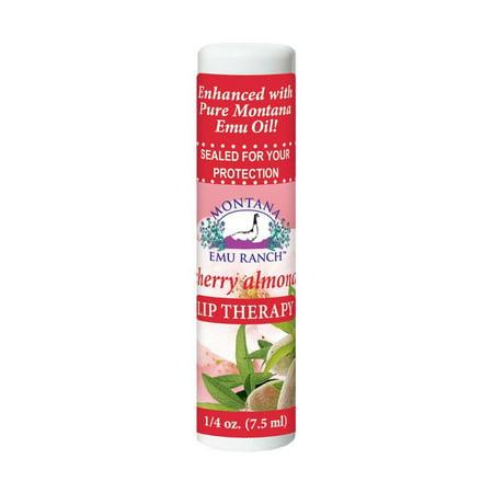 Lip Therapy Cherry Almond Montana Emu Ranch Co. 0.25 oz Balm