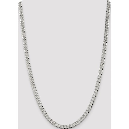 925 Sterling Silver 5.5mm Beveled Curb Chain - image 4 of 5