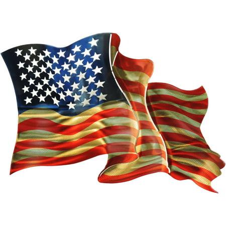 American Flag 3D Wall Art Metal Wall Art By Next Innovations