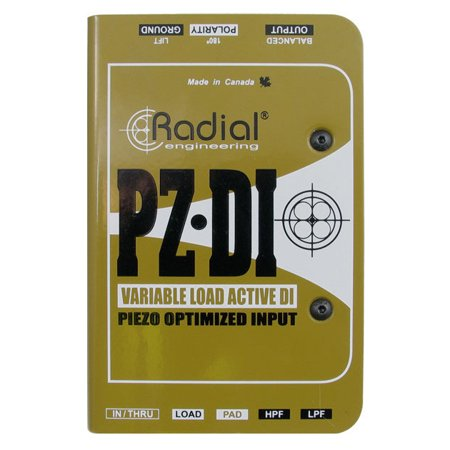 Radial Engineering PZ-DI Orchestral Instrument Direct Box - PZDI Piezo