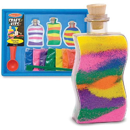 Melissa & Doug Sand Art Bottles Craft Kit: 3 Bottles, 6 Bags of Colored Sand, Design Tool by Melissa & Doug