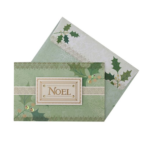 DaySpring Green Noel Christmas Card