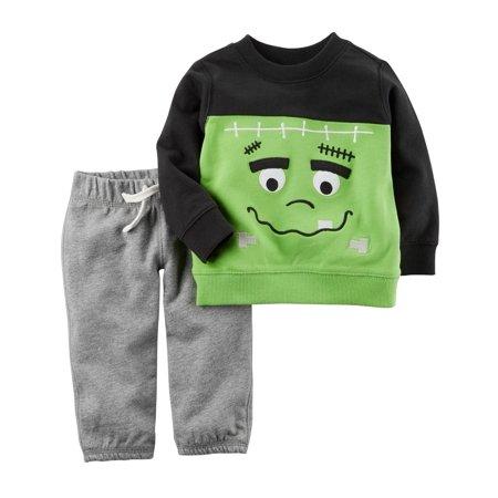 24 Months 2 Piece - Carter's Baby 2 Piece Frankenstein Top and Pants Set, 3 Months