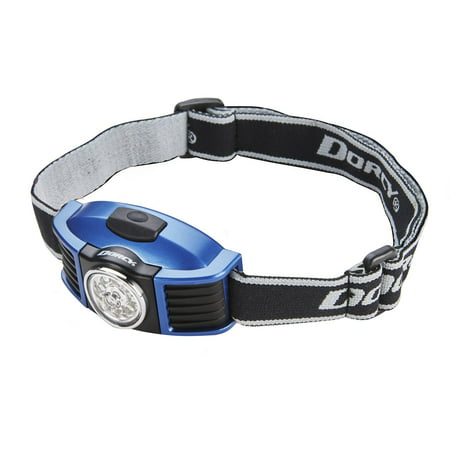Dorcy 100 Lumen Weather Resistant Adjustable LED Headlight with Adjustable Head Strap Black and Blue 41 2093