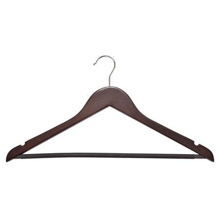 Wood Tie Hanger - Wood Suit Hangers - 30 Pack, Cherry