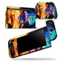 Liquid Abstract Paint V26 - Skin Wrap Decal Compatible with the Nintendo Switch Console + Dock + JoyCons Bundle